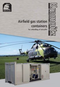 Airfield airplane helicopter gas station containers